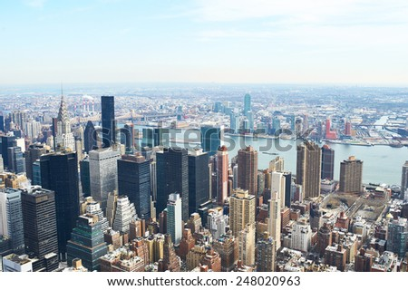 Cityscape view of Manhattan, New York City, USA - stock photo