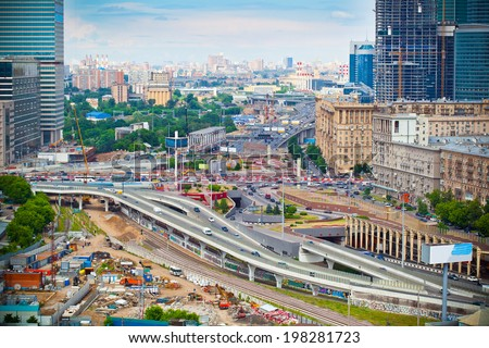 """Cityscapes Moscow; business center """"Moscow City"""" - stock photo"""