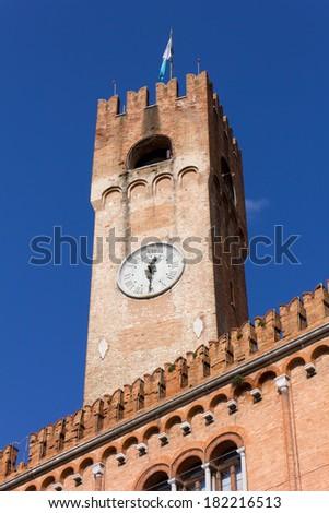 Civic Tower in Piazza dei Signori, Treviso, Italy - stock photo