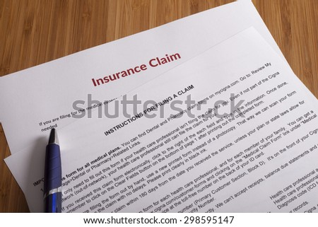 Claim form for fill out - stock photo