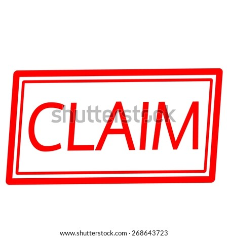 CLAIM red stamp text on white - stock photo