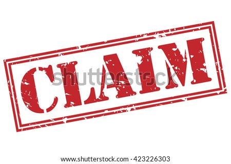 claim stamp - stock photo