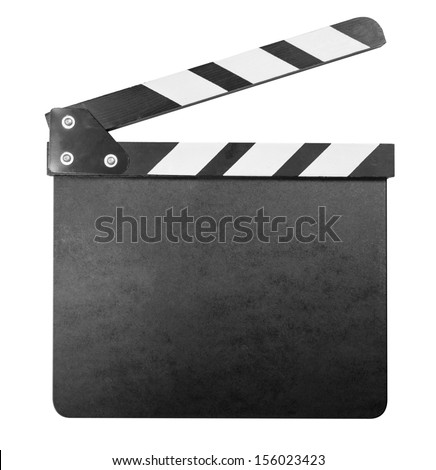 Clapper board isolated with clipping path included - stock photo
