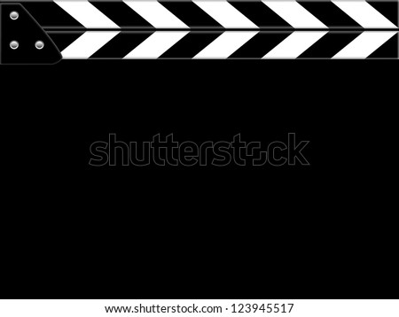 Clapper board or slate black board - stock photo