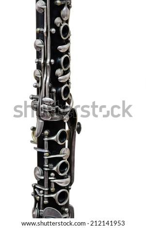 clarinet isolated under the white background - stock photo