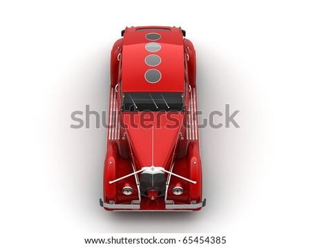 clasic car 3d rendering - stock photo