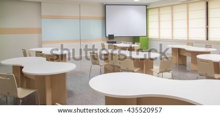 Class room modern. - stock photo