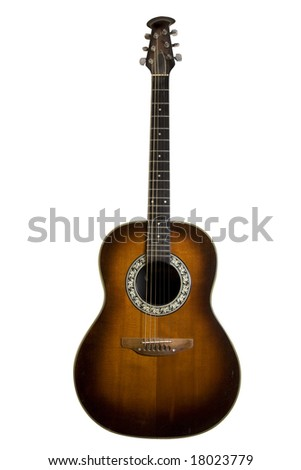 Classic acoustic guitar - stock photo