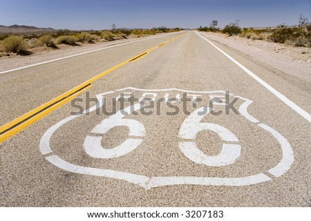 Classic American Highway - stock photo