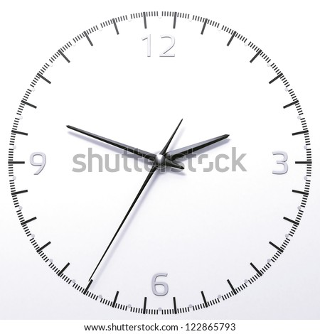 Classic analog clock isolated on a white background - stock photo