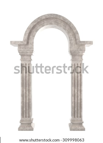 Classic Ancient Arc - stock photo