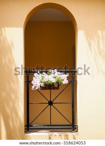 Classic balcony - stock photo