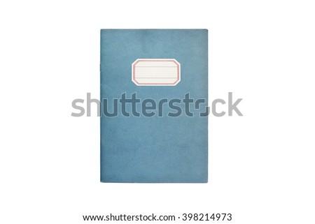 Classic blue notebook - stock photo