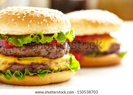 Classic Burgers - stock photo