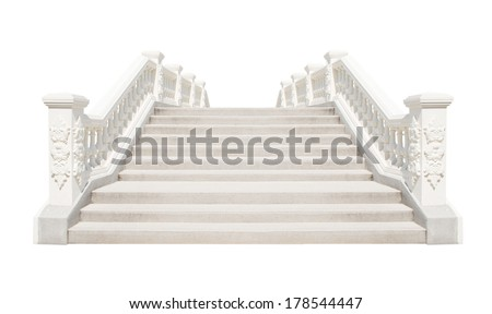 Classic Cement stairs - stock photo