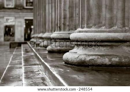 classic columns - stock photo