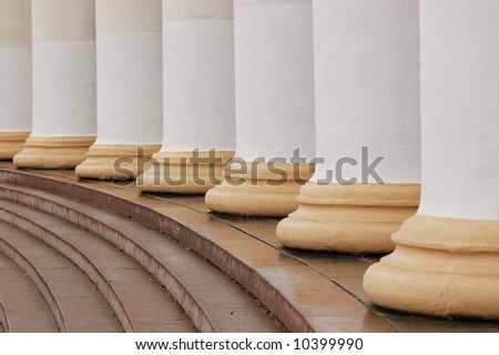 classic columns and steps - stock photo