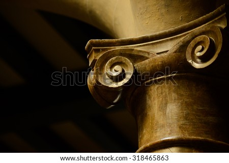 Classic columns background - stock photo