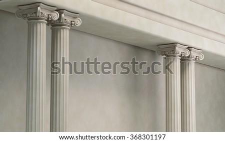 Classic Corinthian Pillars Arc - stock photo