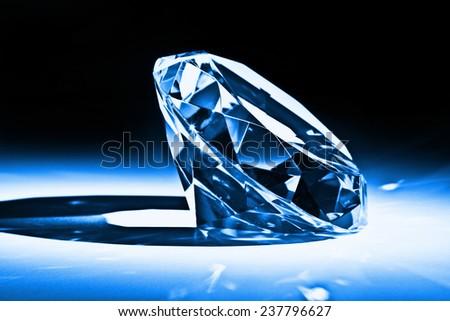 classic diamond close up image - stock photo