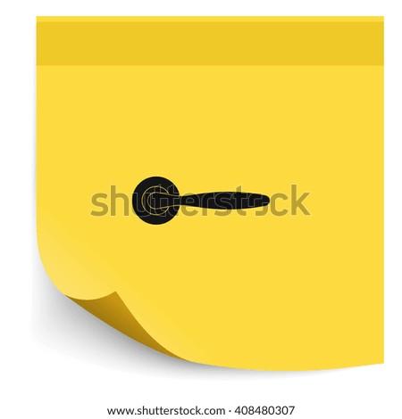 Classic door handle icon. - stock photo