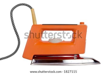 Classic electric iron - stock photo