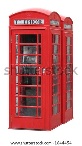 Classic English phone booth - stock photo