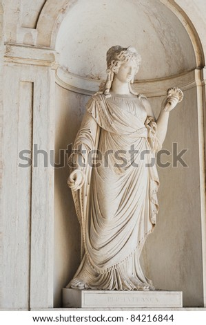 Classic female statue - stock photo