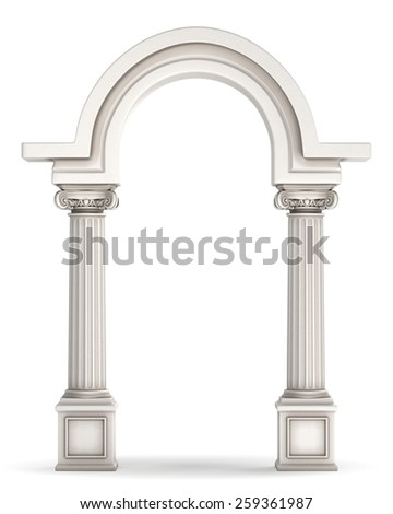 Classic Greek Column Arc - stock photo