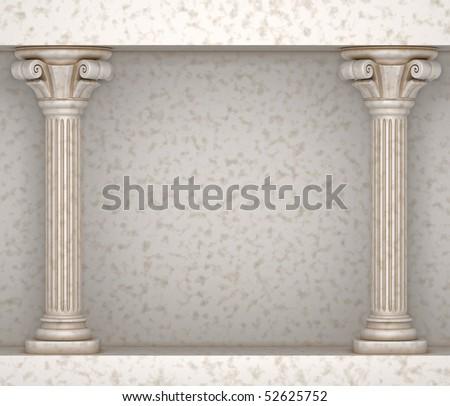Classic Greek Pillar Background - stock photo