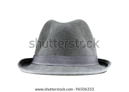 Classic grey hat - stock photo