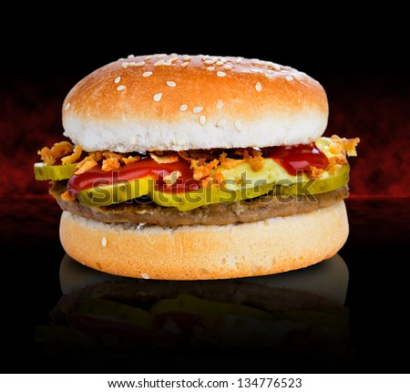 Classic hamburger - stock photo