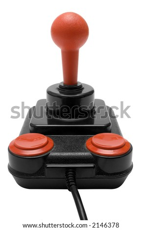 Classic Joystick w/ Path (Front View) - stock photo