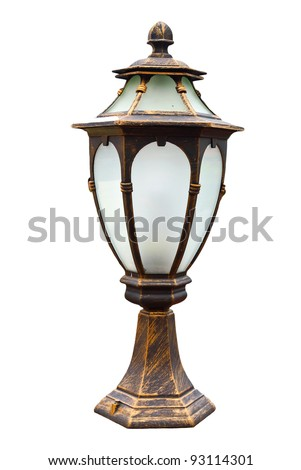 classic lamp on isolate background - stock photo