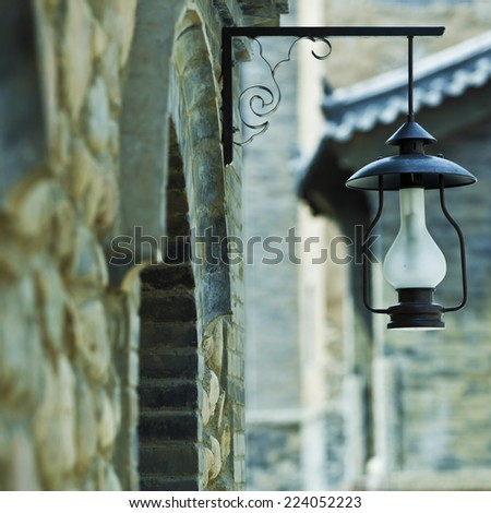 Classic Lantern?The old street lamp  - stock photo