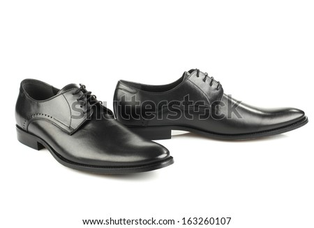 Classic man shoes isolated on white background - stock photo