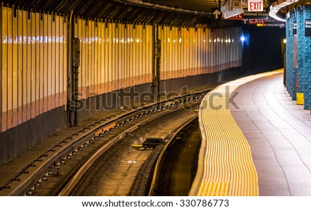 Classic Manhattan subway station - stock photo