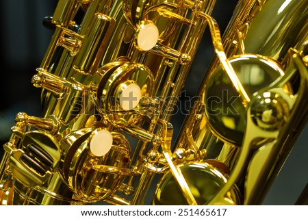 Classic music Sax tenor saxophone - stock photo
