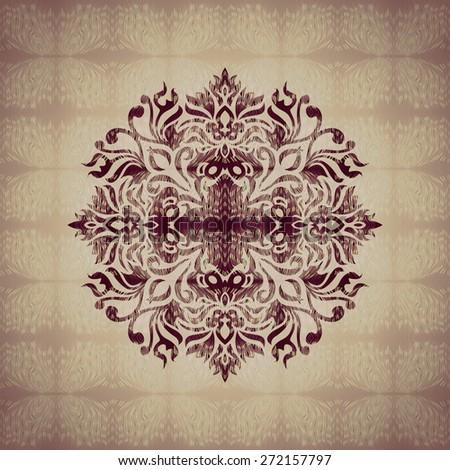 Classic ornament geometric background pattern wallpaper - stock photo