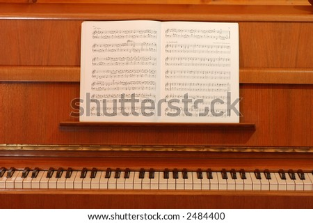 Classic Piano and lyrics book - stock photo