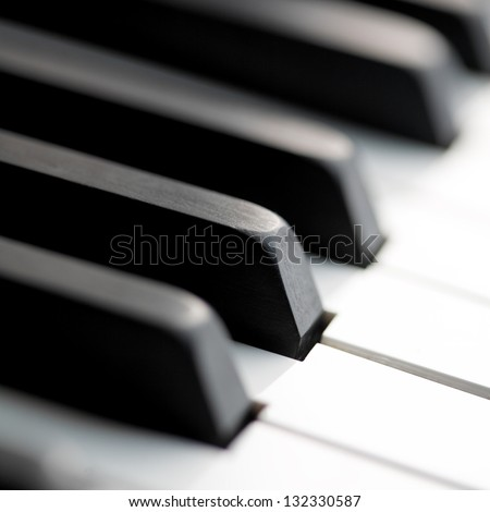 classic piano close up - stock photo