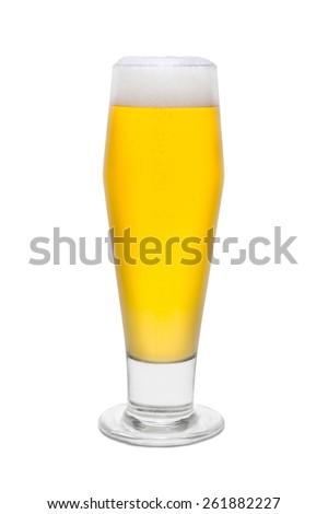 Classic Pilsner Beer, with Foam Head #2 - stock photo