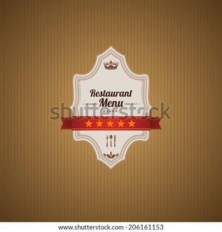 Classic retro main cover for restaurant menu. - stock photo