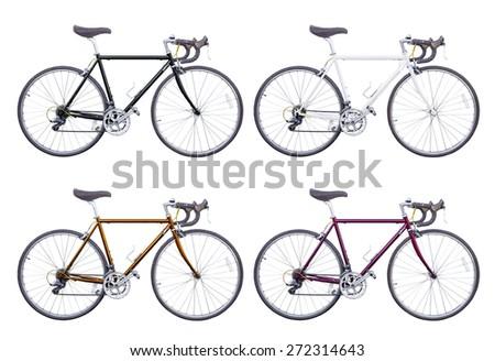 classic road bike isolated - stock photo