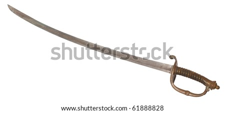 Classic sabre, isolated against background - stock photo