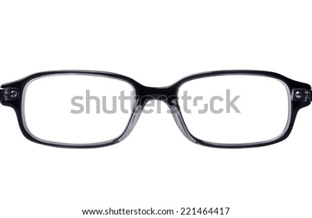 Classic style reading glasses isolated on white  - stock photo