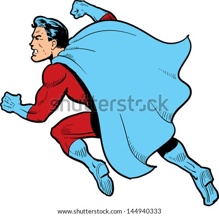 Superman Cape Drawing Classic Superhero With Cape