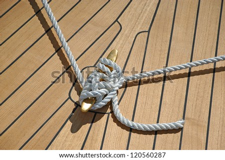 classic teak wood sailing boat deck stock photo