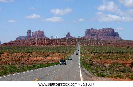 Classic View of the Navajo Nation's Monument Valley - stock photo