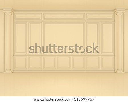 classic wall with columns - stock photo